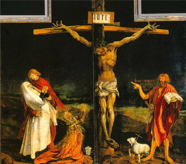 The Isenheim Altarpiece (center) by Grunewald